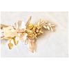 Tocado flores gold