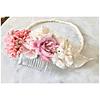 Tocado flores de seda