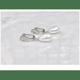 Aros plata, circones y perlas