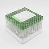 Tubo al vacío tapa verde heparina litio 3ml Global Vac 100 unidades