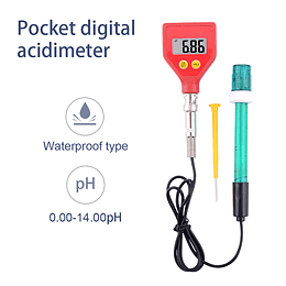 Ph Meter PH-98105 portátil de alta precisión medidor de PH