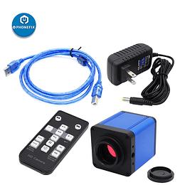 Cámara 14MP para Microscopio Híbrida, USB, HDMI, SD, CR