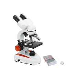 Microscopio Binocular Duo, Modelo YJ-24B, LED, Metal, Plastico, Incluye Set de Accesorios