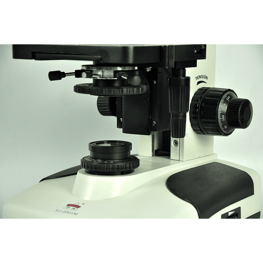 Microscopio Trinocular Kohler, 40-2000X, Iluminacion Halogeno