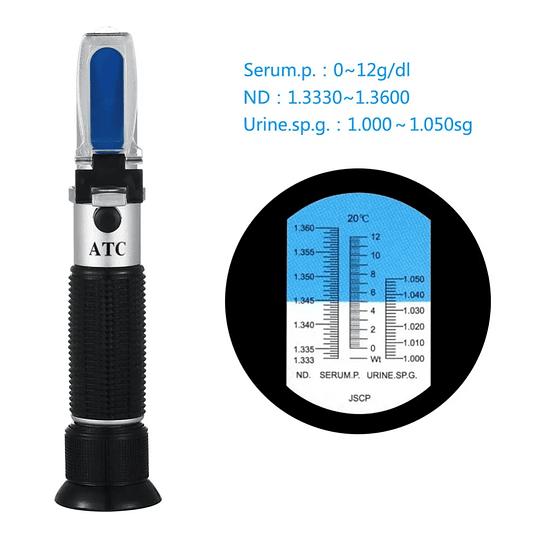 Refractómetro médico portátil ATC de Proteína sérica medidor de concentración herramienta de prueba de gravedad específica de orina