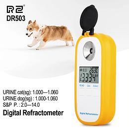 Refractómetro clínico para animales, suero veterinario, proteína, orina, refractómetro Digital, probador de gravedad específico para perros y gatos