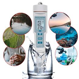 Medidor de PH, TDS, EC y Temperatura 4 en 1, Modelo PH-3508_4_en_1