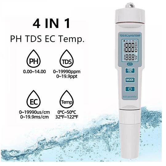 Medidor de PH, TDS, EC y Temperatura 4 en 1, Modelo PH-686