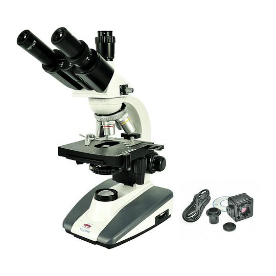 Microscopio Trinocular Siedentopf 40x-2000x Incluye Camara, Led, Modelo YJ-2101T, Semi Profesional, Laboratorio Clinico, Veterinario