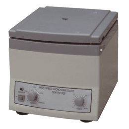 Centrifuga Hematocrito 1,5mm x 75mm, 12.000 RPM, 24 tubos capilares, Timer 30 Minutos
