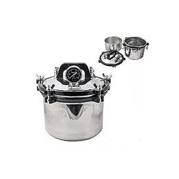 Autoclave eléctrico 12 litros tipo olla, uso laboratorio medico dental