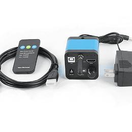 Camara Microscopio 1080P 36MP + 32GB MemoriaSD, HDMI, USB, WIFI, Video c-mount TF Video grabadora IR control remoto
