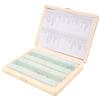 Portaobjetos con muestra biologica teñida x 100 u. Caja madera