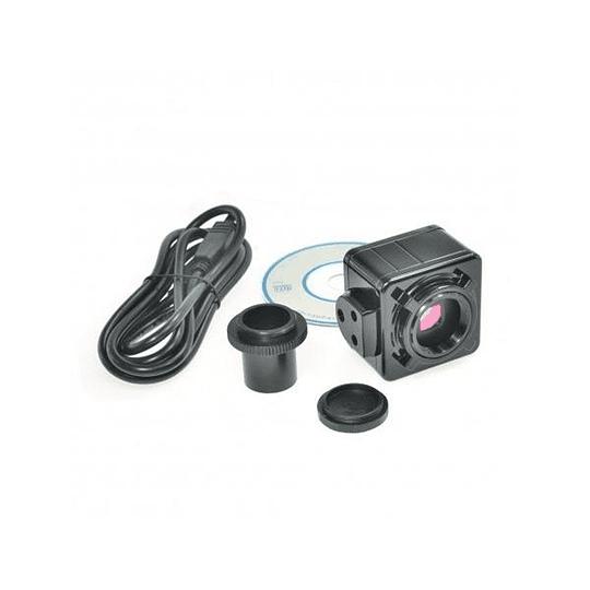 Microscopio Binocular Incluye Camara 5MP, 40x-1000x, Led, modelo a11.1535-b