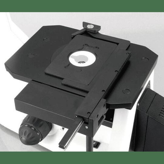 Microscopio Amscope Metalúrgico invertido 40X-600X Super Widefield, polarizador, metalúrgico
