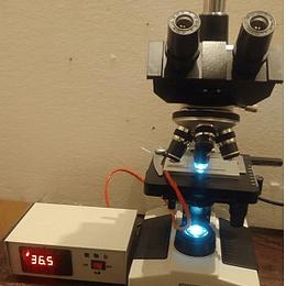 Microscopio Trinocular A11.1008 Led mas Platina Termica digital