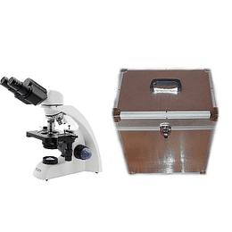 Microscopio Binocular 40x-1000x Mas Caja de Aluminio de Transporte y Almacenamiento, Modelo A11.1530-B, Led