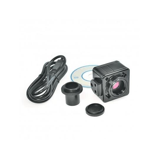 Microscopio Stereo 3.5X-90X, Camara 5MP, Zoom, SimulFocal, Stand Amscope + Boom + LED 144