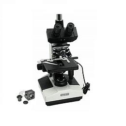Microscopio Trinocular Incluye Camara 5MP, 40X-2000X, Modelo A11.1008, Led