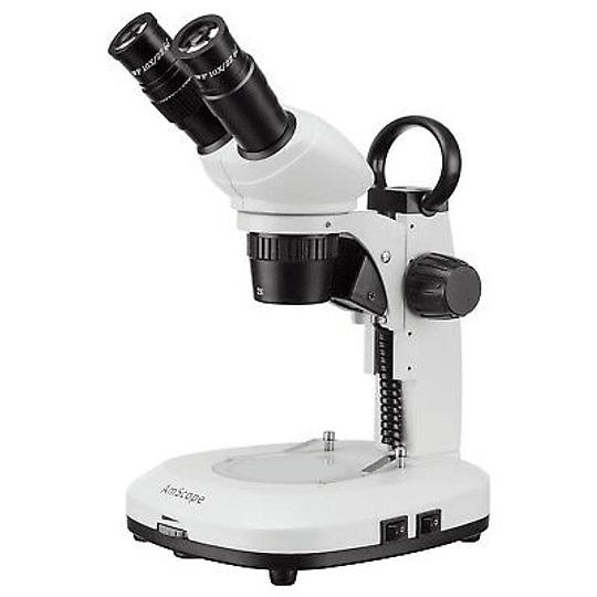 Microscopio Stereo LP40 OEM 20x-40x, Doble Iluminación LED, Mango
