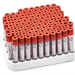 Paquete De 100 Tubos Clot Activator 4ml, Prf