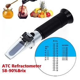REFRACTOMETRO OPTICO ATC MIEL,JARABES 58-90 % BRIX _GRADOS BAUME_% AGUA