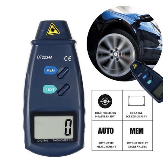 Contador láser Digital Junejour DT2234A, tacómetro sin contacto Rev RPM