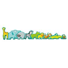 Puzzle - desfile de animales y abecedario