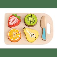 Tabla con frutas para cortar Tooky Toy