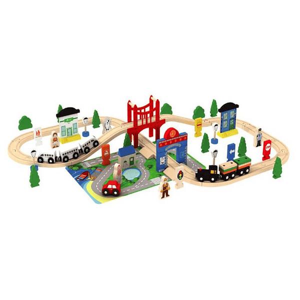 Pista Tren Madera Ciudad Acooltoy