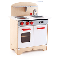 Cocina de madera blanca