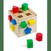 Cubo de Madera con Encaje