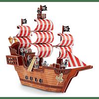 Puzzle 3D Castillo Barco Pirata