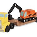 Camión con excavadora