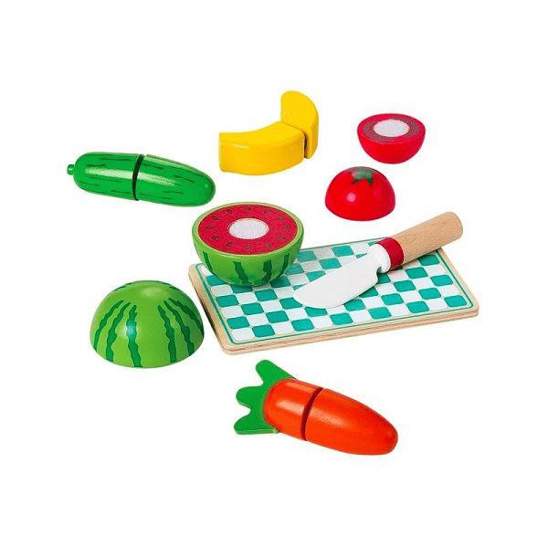 Frutas y verduras para Cortar De Madera