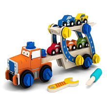 Camión con Autos Armable Madera