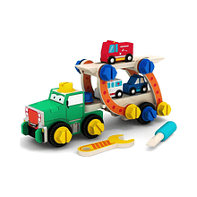 Camión con Autos de rescate