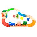 40% Pista de Tren Colores Madera