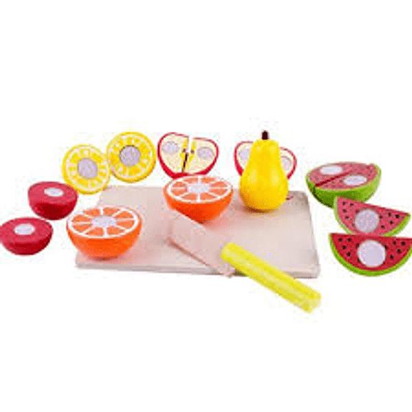 Frutas de madera con Velcro - Juguetes de Madera - Acooltoy