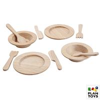 30% Set de Platos y servicios de madera (Plantoys)