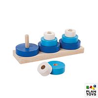 Trio aros apilables - juegos de encaje de madera