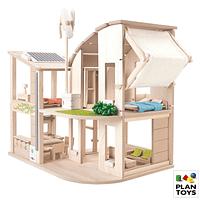Casa de muñecas ecológica con muebles