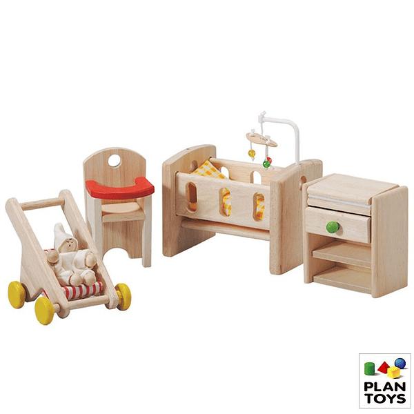 Mini set muebles y accesorios cuarto de bebé