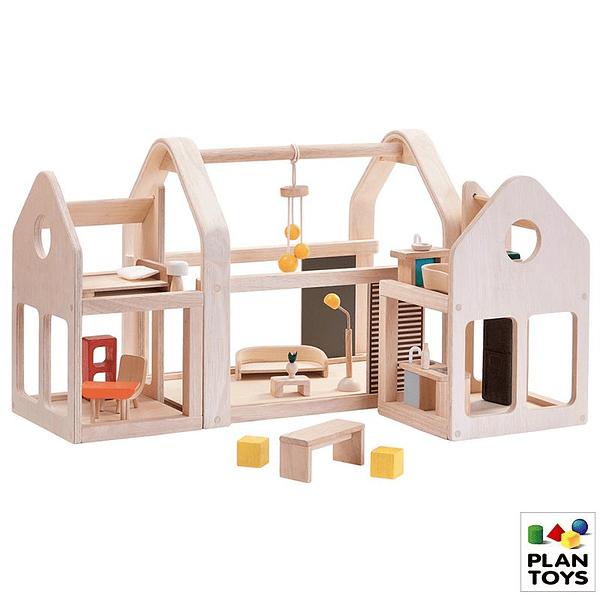 Casa de muñecas modular de madera para niños y niñas