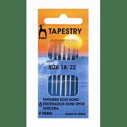 Set Agujas para Bordar Pony Tapestry 18/22