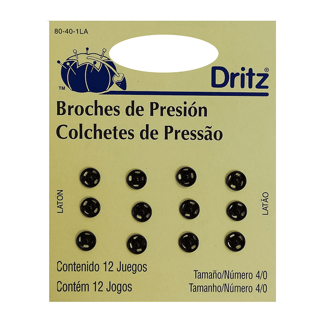 Broches de presión