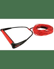 CUERDA WAKEBOARD STRAIGHT LINE STR 5 EVA RED (ENTREGA DICIEMBRE 2020)