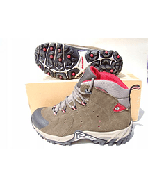 Zapato Dolomite Scrambre JR WP GREEN-RED