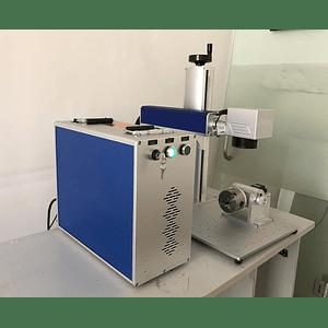 Laser fibra 30W portátil 300x300mm, gravação