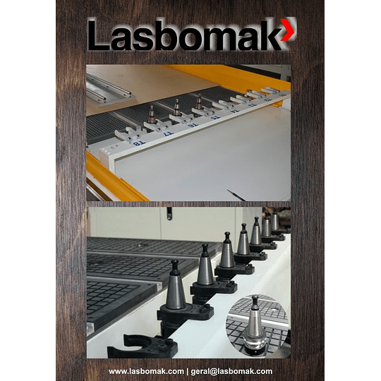 Fresadora 3000/2000mm troca de 8 ferramentas - Image 4